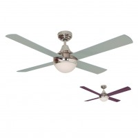 Ventilador de Techo con Luz SULION CROSS CHROME 075005 reversible 122cm