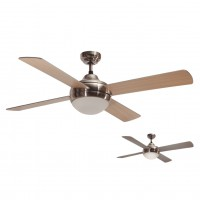 Ventilador de Techo con Luz SULION CROSS NICKEL 072124 reversible 122cm