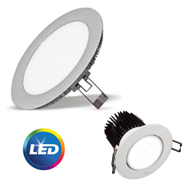 downlights led y pantallas